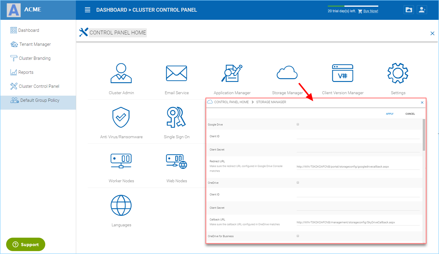 4 Cluster Administration — Administration Guide 10 6 6800 44120