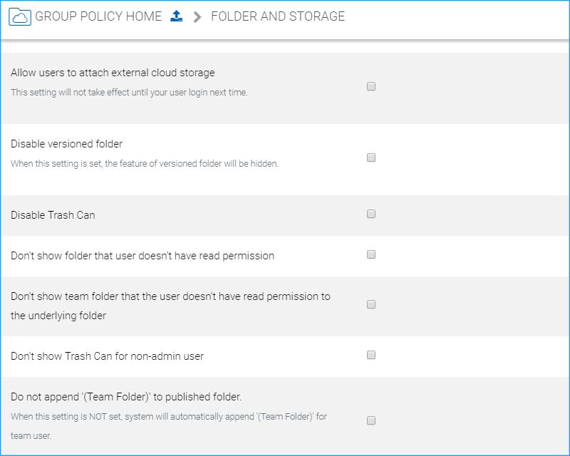 Group Policy Settings — Group Policy Settings 9 8 documentation